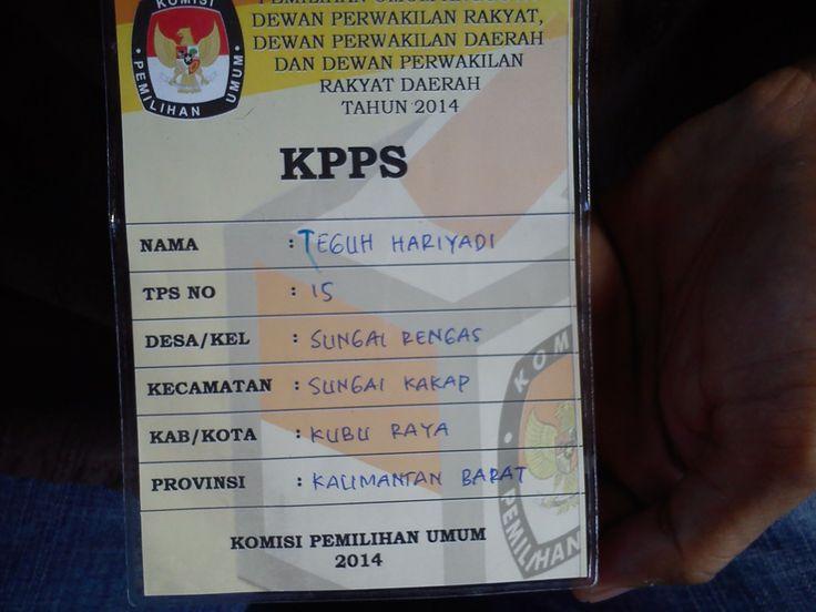 Kemarin adalah Pemilu legislatif, dan untuk pertama kalinya menjadi anggota KPPS.. Lelah, Panas, Ngantuk ke Tempuh guna Suksesnya Pilkada di TPS ku, dan itupun terbayar lunas setelah malamnya Pemungutan Suara selesai dan terpenting Pilkada di daerahku tetap aman tanpa ada masalah berarti #PINdonesia #Pilkada2014 # #ILOVEIndonesia