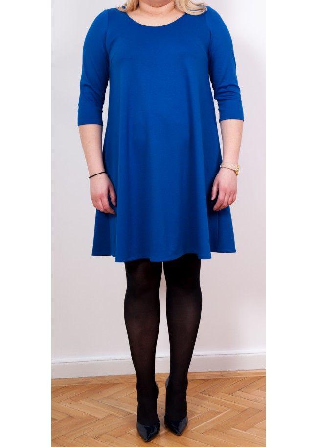 Dress Marta Kobalt - Plus Size, 40$/EUR + shipping cost