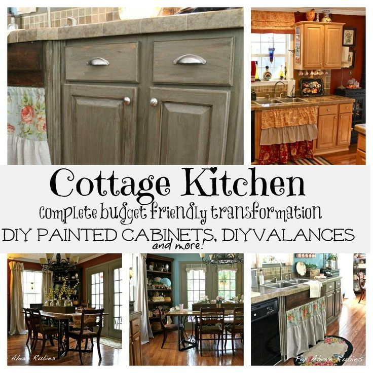 Cottage kitchen makeover painted kitchen cabinets for Budget kitchen cabinet ideas