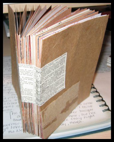 Mixed Media Art Journal - paper bags, calendar pages...I