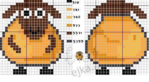 cross stitch pattern, intersia knitting, sheep