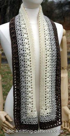 Snowy Evening Bobble Scarf, #crochet, free pattern #haken, gratis patroon (Engels), sjaal, shawl, #haakpatroon, verloopgaren, unicat