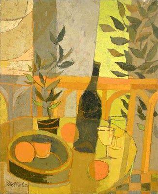 Mel Fowler: Table Still Life, oil on canvas