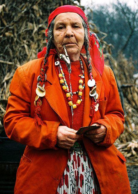 A Crone Portrait: Romani fortune-teller.