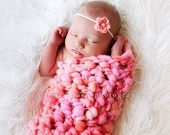 PDF Crochet Pattern Newborn Prop Sock/Cocoon For Bulky to Super Bulky Yarns Great Photography Prop. $3.75, via Etsy.
