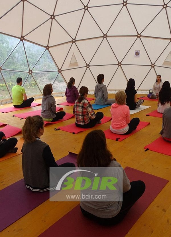 If You Like Yoga You Must Know The Dome Of Bdir Inc Where You Can Practice Dome Tent Tensile Structures Event Tent