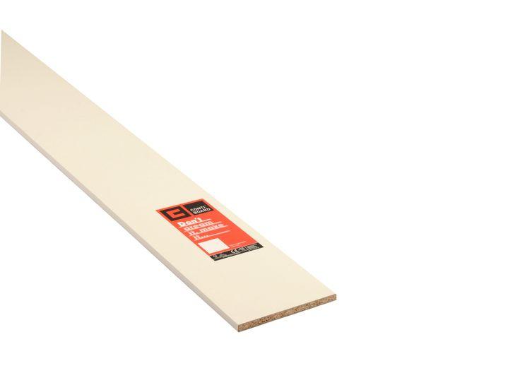 Conti MFC Furniture Panel White (L)2440mm (W)229mm (T)15mm | Departments | DIY at B&Q