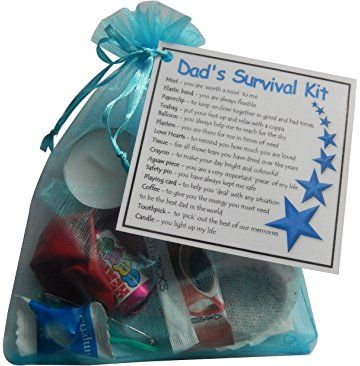 Dad's Survival Kit Gift (Ideal dad gift for dad. Ideal Father gift for Father's Day. Great novelty gift for birthday or Christmas) - dad gift, gift for dad, dad present, present for dad