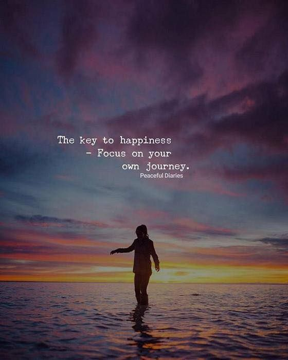 The key to happiness..