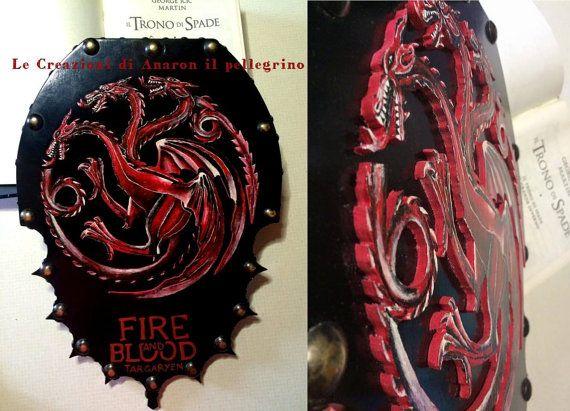 House Targaryen shield game of Thrones-Game of thrones
