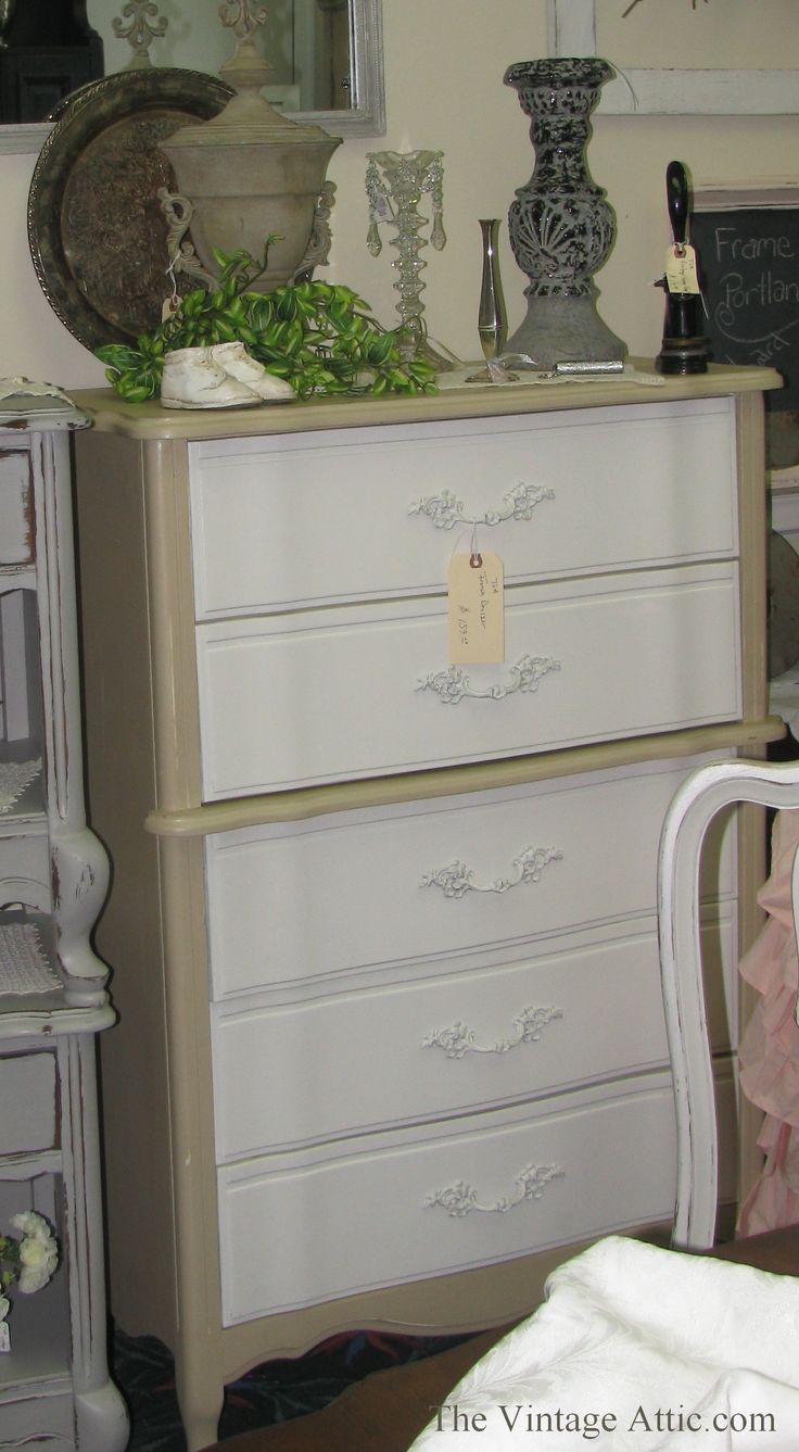 Painted with CeCe Caldwell's Paints in Myrtle Beach Sands and Simply White , sealed with Satin Finish.