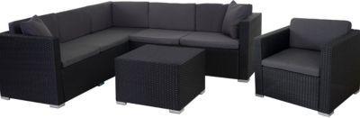 heute-wohnen Poly-Rattan-Garnitur ROM Basic, Sofa Sessel Lounge-Set, Alu Jetzt bestellen unter: https://moebel.ladendirekt.de/garten/gartenmoebel/loungemoebel-garten/?uid=8fe38a67-3b30-5ca3-b6ce-20cce8410651&utm_source=pinterest&utm_medium=pin&utm_campaign=boards #loungemoebelgarten #garten #gartenmoebel