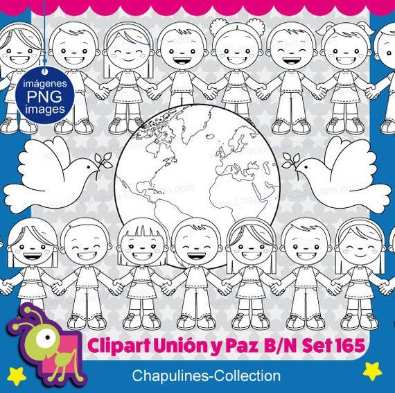 Union And Peace Clipart Black And White United Nations Day Kids Clipart Digital Png Images Set 165 Clipart Black And White United Nations Day Clip Art