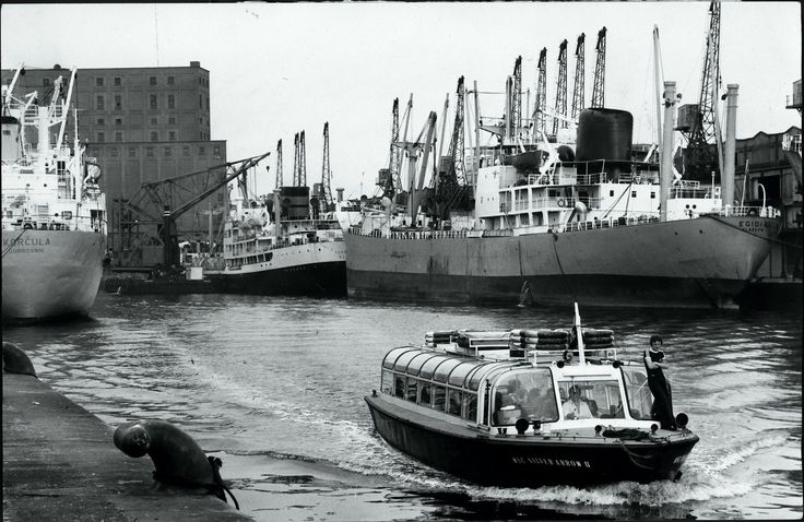 No 9 Dock. Salford Docks, pictured in the 1970s