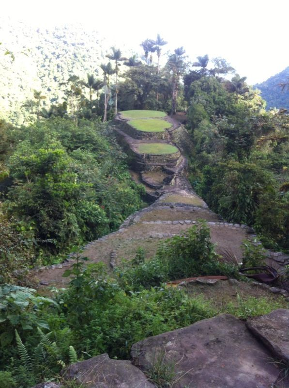 Ciudad Perdida (Lost City) from the highest point. - Colombia