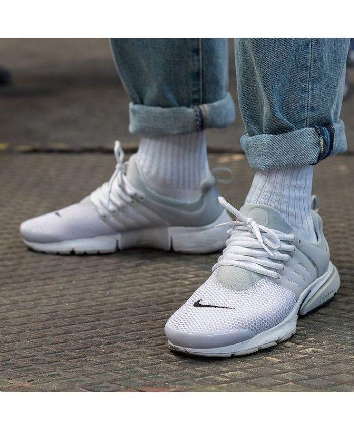 Nike Air Presto Homme Gris Blanc | Nike air presto, Casual shoes ...