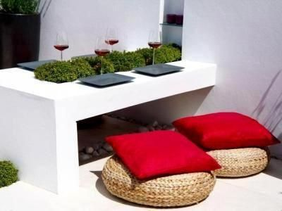 ideas decoracion patio terraza minimalista comedor estilo