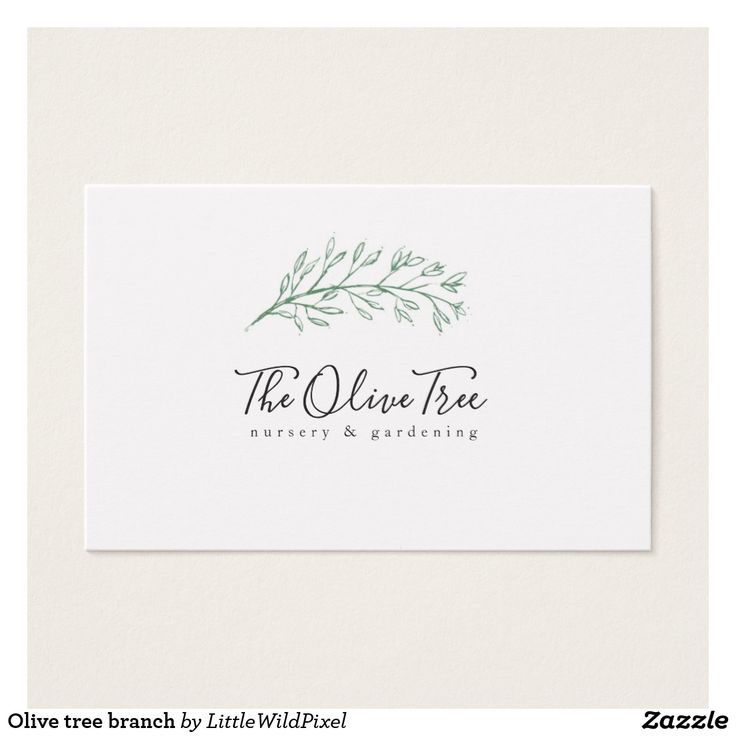 Olive tree branch business card