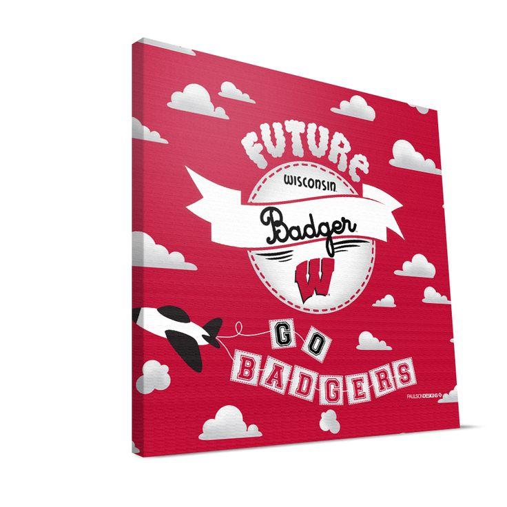 WIS Badgers 12×12 Future Boy Canvas Print