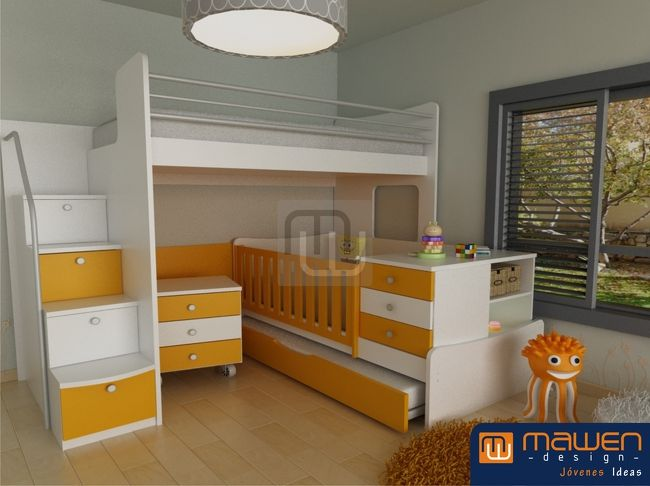17 best images about kid 39 s bedroom on pinterest bunk for Muebles infantiles
