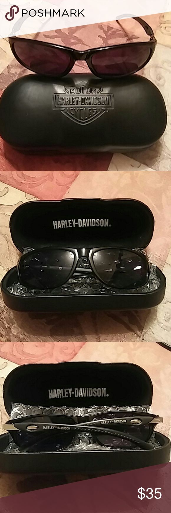 Harley Davidson Sunglasses w/case Black Harley Davidson Sunglasses, HDS 335 Blk-3 59 17-130, never worn... Harley-Davidson Accessories Glasses
