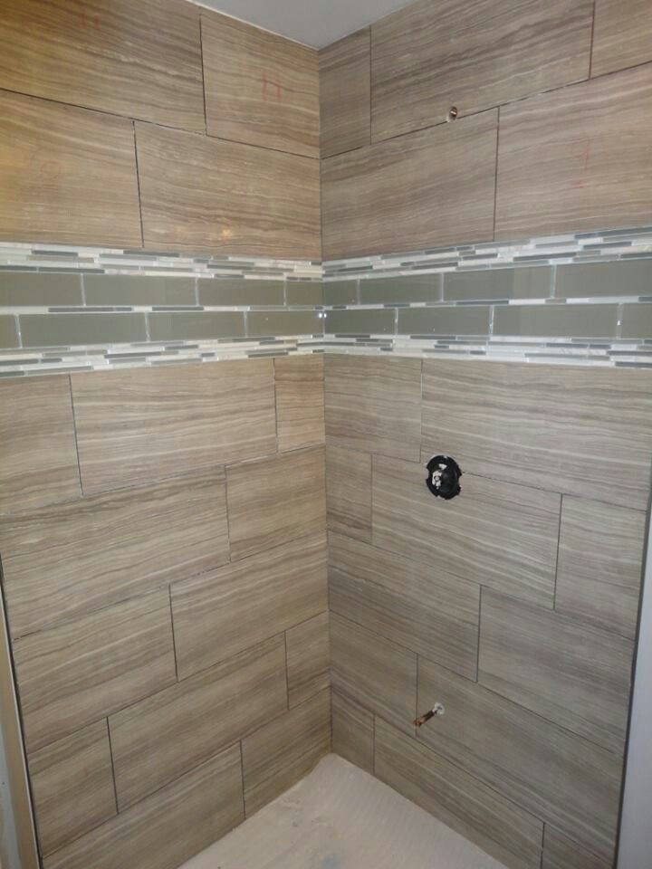 As the tiles were being installed