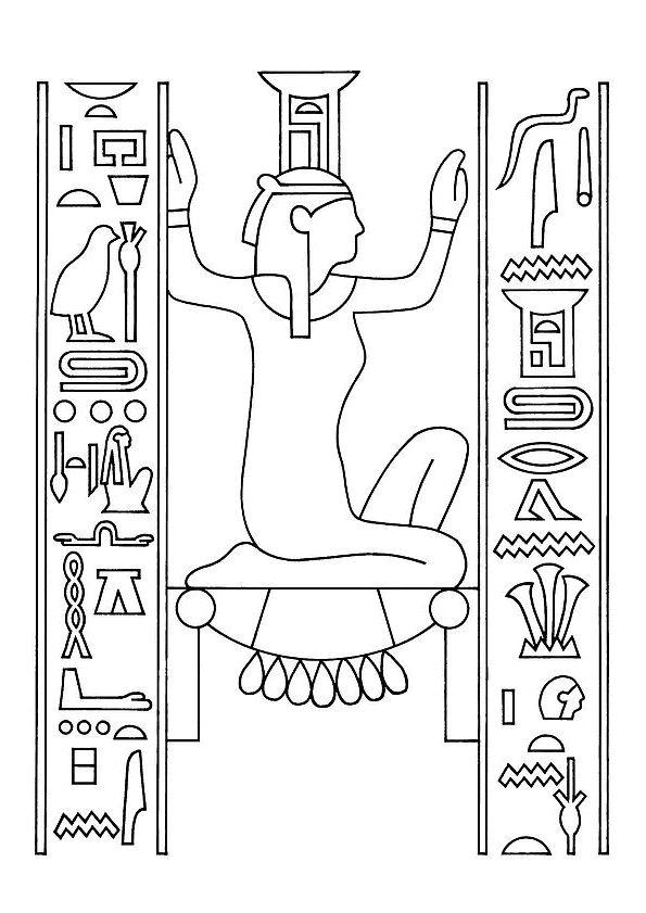 coloriage hiéroglyphes