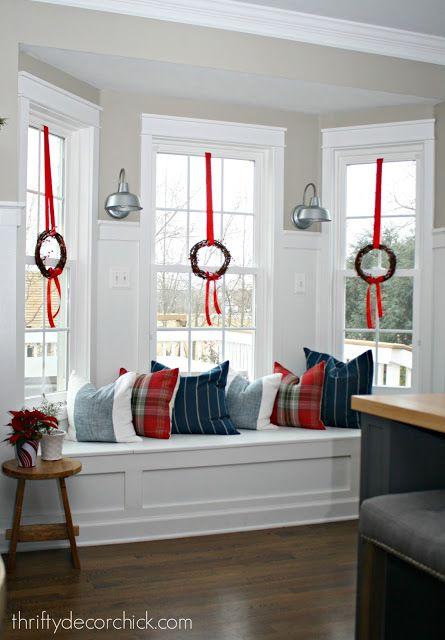 Christmas Bay Window In Kitchen