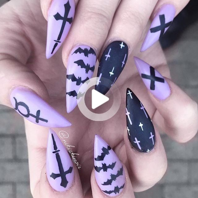 60+ Halloween Nail Art Ideas in 2020 | Halloween nail ...