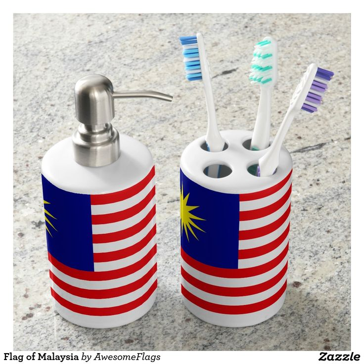 Flag of Malaysia Toothbrush Holders