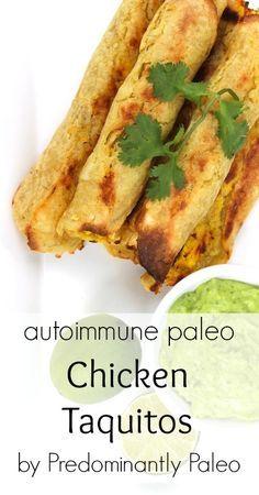 Chicken Taquitos on http://meatified.com #paleo #autoimmunepaleo #glutenfree yuca and plantain