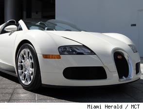 This White Bugatti Would Look Better In Gold Chrome.