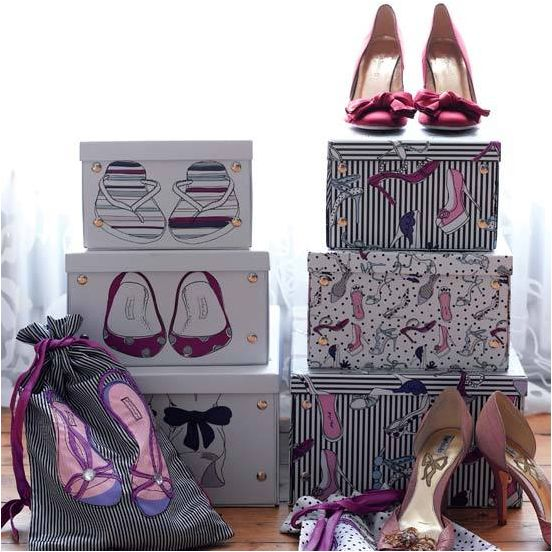 Key Interiors by Shinay: Vintage Style Teen Girls Bedroom Ideas  Must get shoe boxes like this.