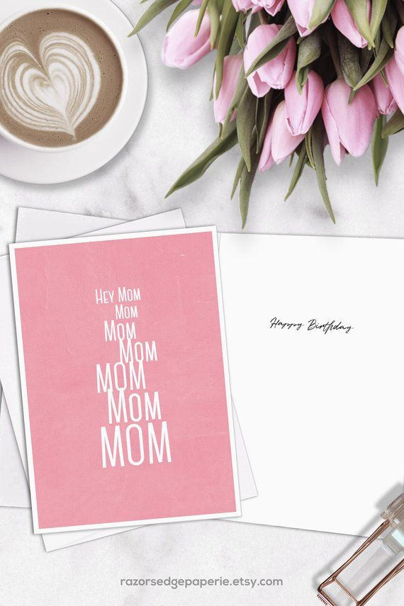 PRINTABLE Funny Birthday Card INSTANT DOWNLOAD Digital Greeting Cards For Her Gift Mom