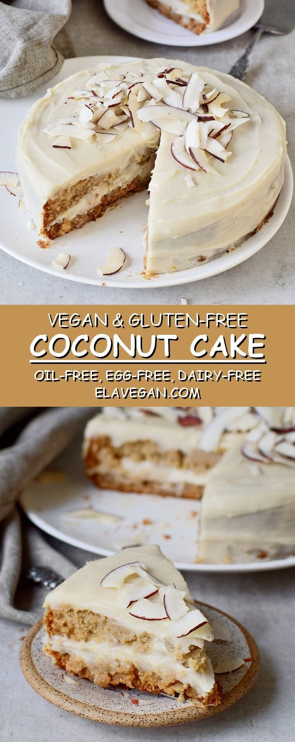 Moist and creamy vegan coconut cake with a coconutty sweet potato frosting which… – LilyRose Bracken