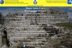 II campagna di scavo sul Monte Santa Croce 2014 - Locandina