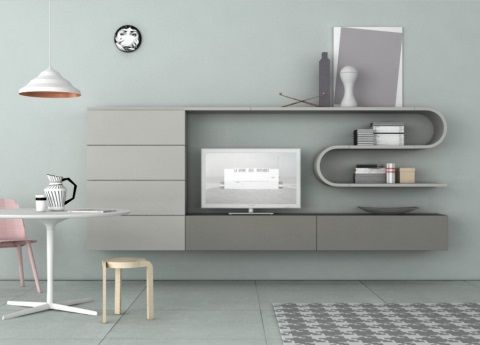 Good The Novamobili Wave Wall Unit System Is A New Introduction For It Combines  Linear And Curved Elements To Create A Softer Look And With Many More  Elements ...
