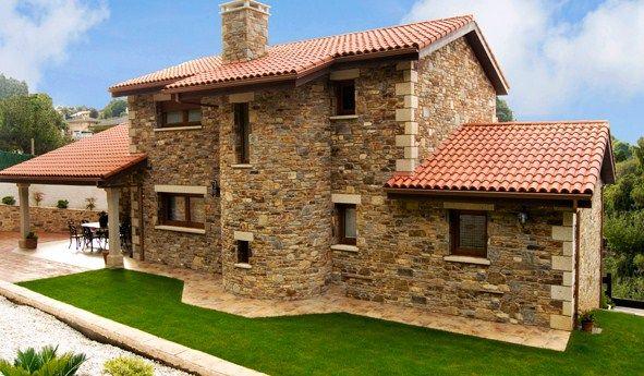 Frentes rusticos con piedra casas casas r sticas y - Casas de piedra rusticas ...
