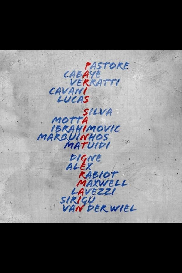 Insolite: Un acrostiche Paris Saint Germain avec les noms des joueurs - http://www.actusports.fr/90895/insolite-acrostiche-paris-saint-germain-avec-les-noms-des-joueurs/
