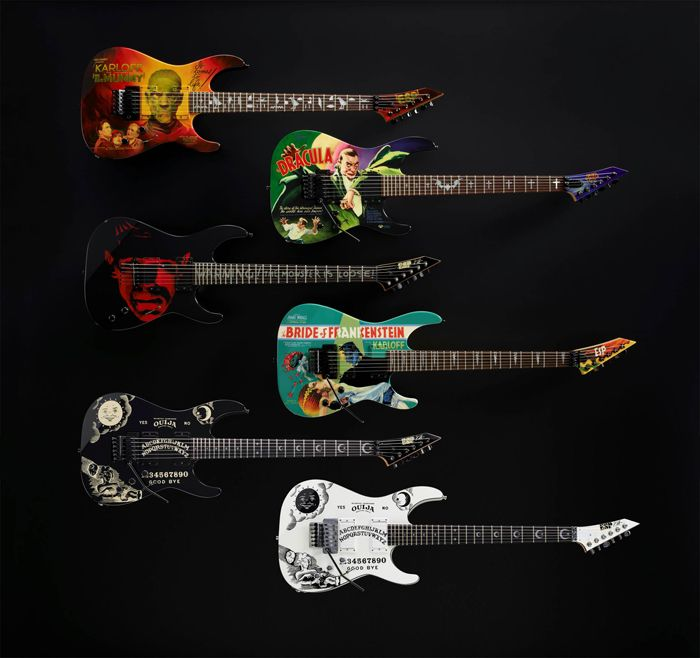 Kirk Hammett of Metallica's signature models from ESP