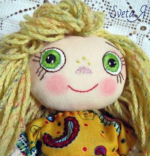ΥΠΕΡΟΧΕΣ ΔΗΜΙΟΥΡΓΙΕΣ: Лиза - игровая текстильная кукла