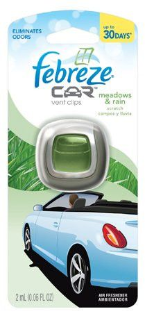 Febreze Car Vent Clip Meadows & Rain .06 Oz