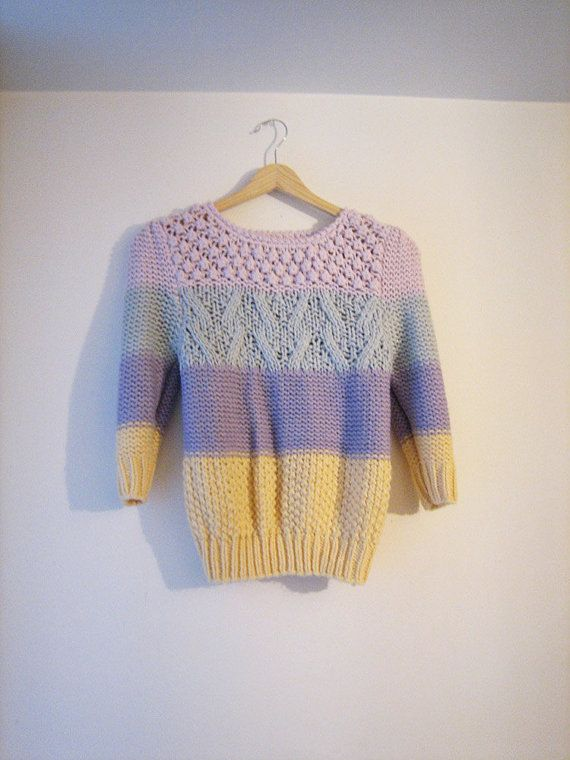 So cool. Love the idea of knitting four totally different sweaters as one.