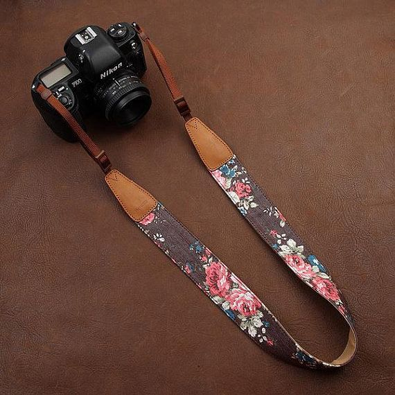 Leather Camera Strap  DSLR Camera Strap  Nikon/Canon by AllureLove, $29.99