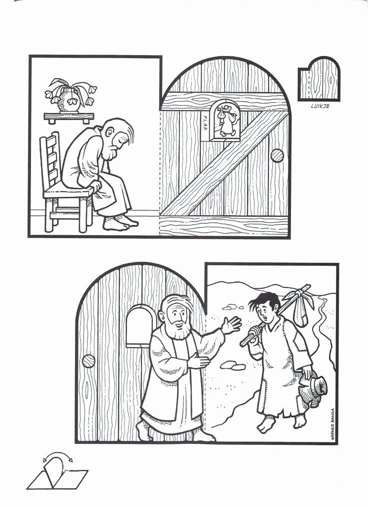 The Prodigal son Coloring Page Lovely 17 Best Images About ...