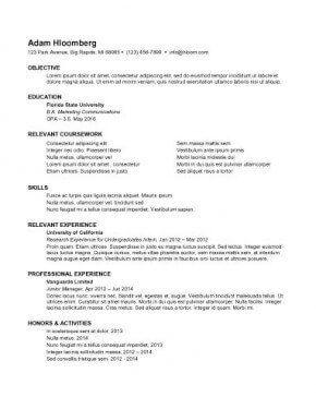 Internship 3 Resume Format Internship Resume Resume Examples