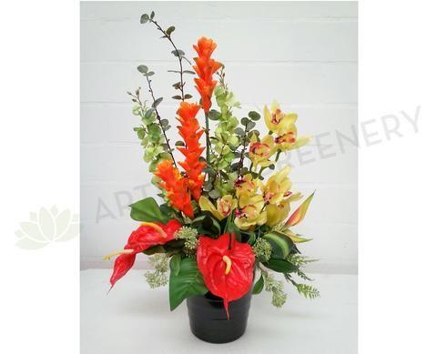 FA1018 Tropical Floral Arrangement - Ginger Torch / Orchid / Anthurium
