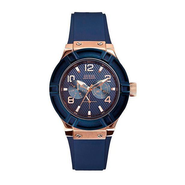 #GUESS #horloge #wehkamp #marine #blue #rosegold #rose #watch #sport #brandfield #glass #luxe #sporty #women
