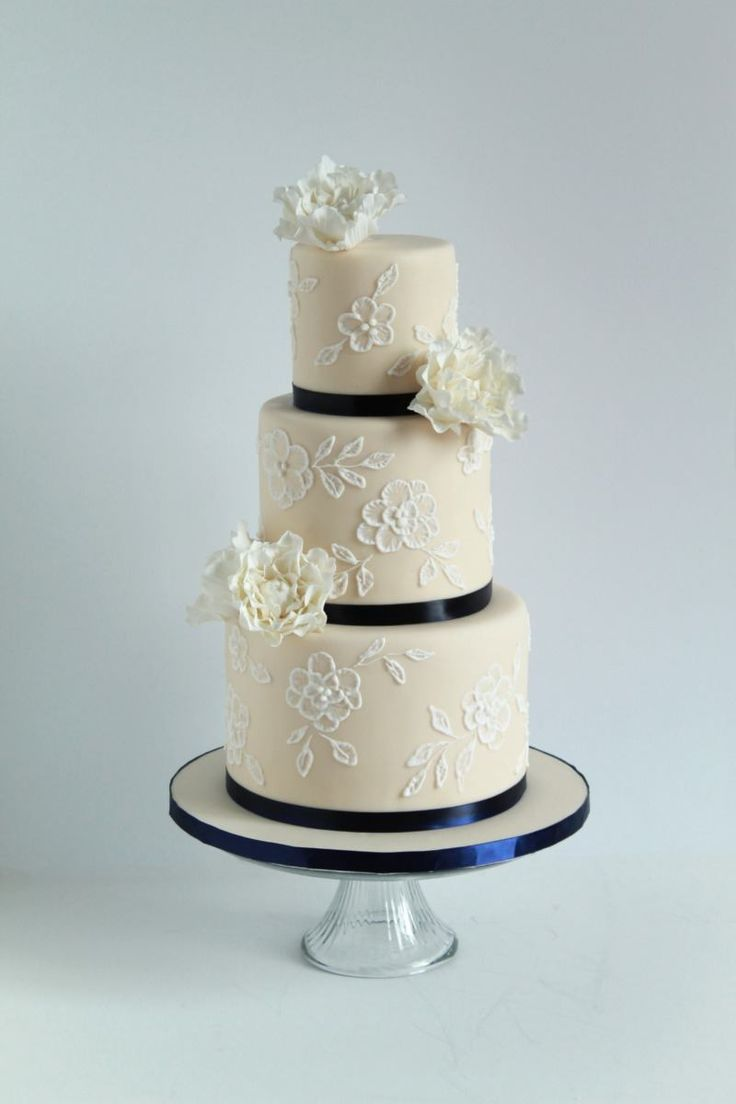 Navy Blue Accent Wedding Cake Ideas About Cakes On Military