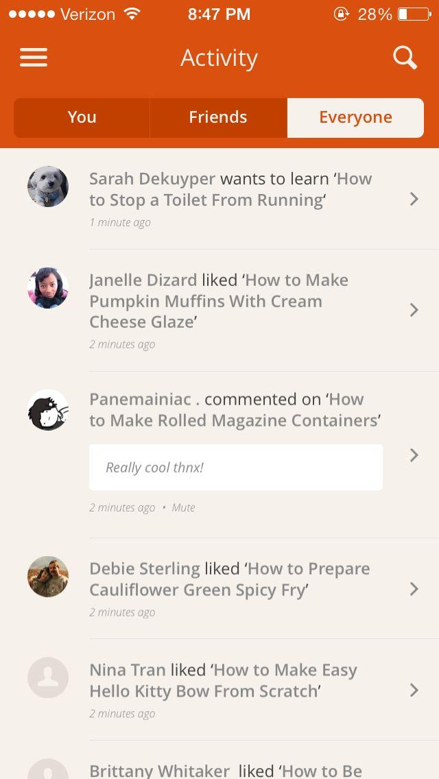 Snapguide · Activity Feeds | UI DESIGN | Pinterest | Mobile ui, Mobile design and UI Design